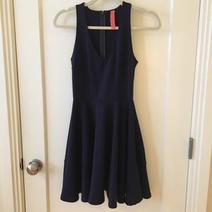 Eight Sixty navy A line dress